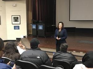 Gubernatorial candidate Gretchen Whitmer hosts town hall