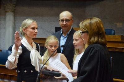 Spartz sworn in as senator after Kenley's retirement