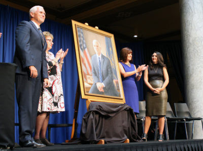 Pence's official portrait displays faith and family