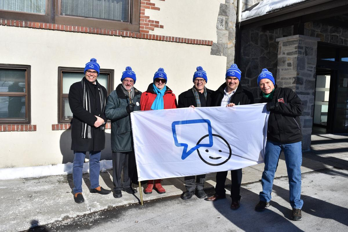 """Dorval raises its flags in support of Bell """"Let's Talk"""" movement"""