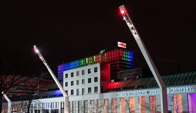 Rainbows light up the Quartier des Spectacles