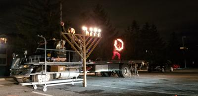 COVID 19 doesn't stop Chanukah at The Gutnick Mazal Jewish Center