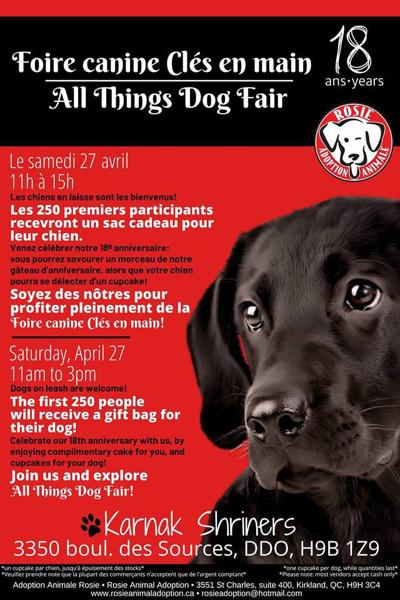 All Things Dog Fair benefiting the 18th Anniversary of Rosie Animal Adoption