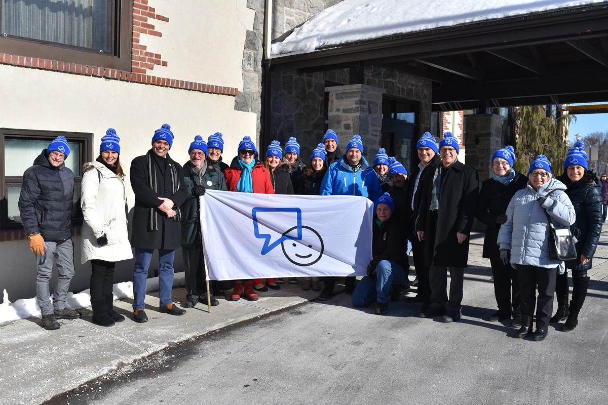 Bell Let's Talk - Dorval Flag raising ceremony