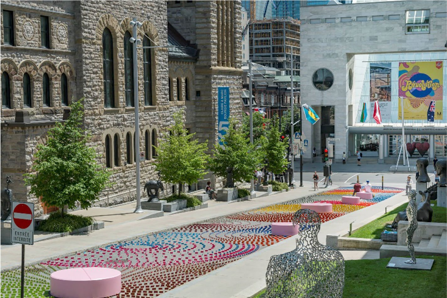 Brilliantly Colourful Installation At The Montreal Museum Of Fine Arts Sculpture  Garden