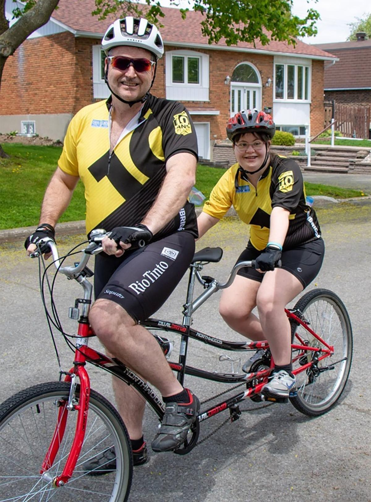 The Torriani tandem bike is part of a family affair in upcoming Enbridge Ride to Conquer Cancer