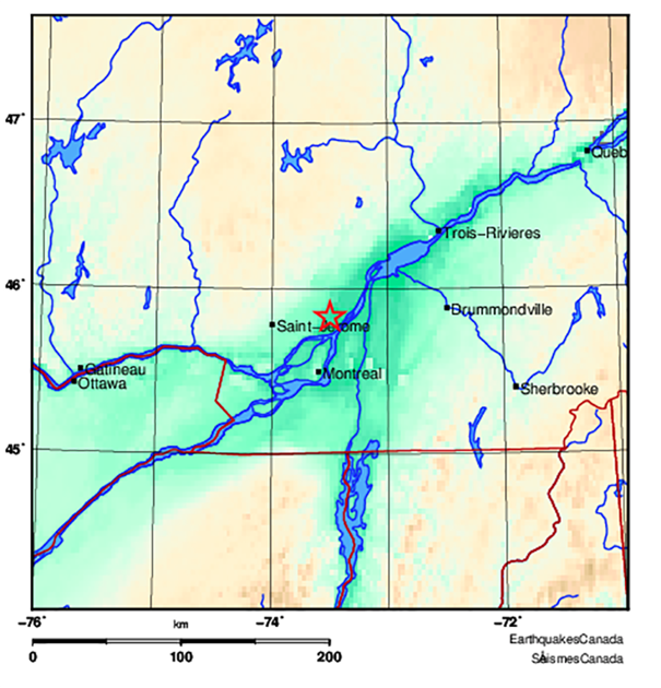 Monday morning tremor rattles Montreal