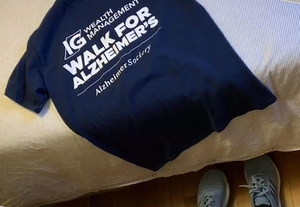 The IG Wealth Management Walk for Alzheimer's goes online this year