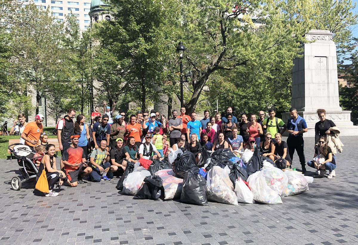 Joggers and walkers united to pick up trash on World Cleanup Day