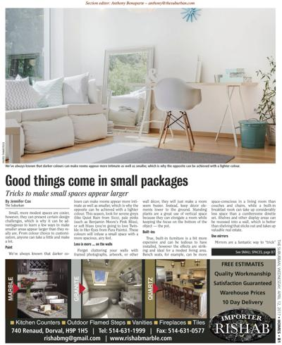 The Suburban April Home Section