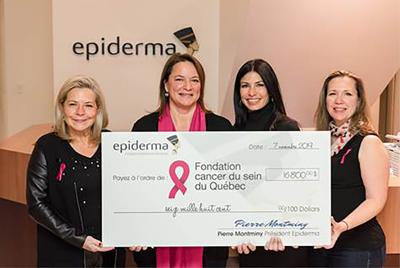 Epiderma raises $16,800 for the Quebec Breast Cancer Foundation