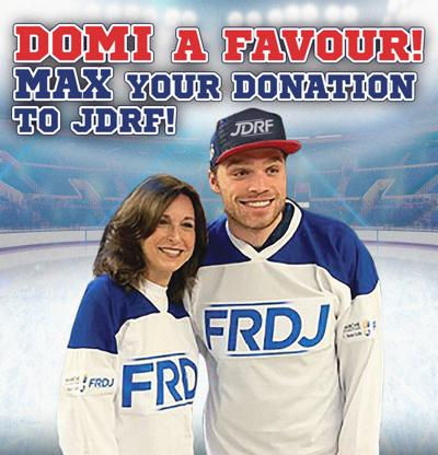 Domi a favour and Max your donation to JDRF