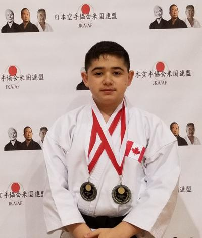 Double silver success for young karate athlete