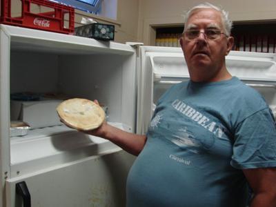 Joseph Quinn at Manna Food bank