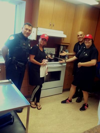 SPVM 1 Officer and area company get new stove for MOW
