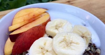 Healthy Living With TAU: Fruity quinoa bowl
