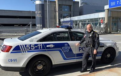 SPVM officer Piero Matta courageously saves an elderly woman while off duty