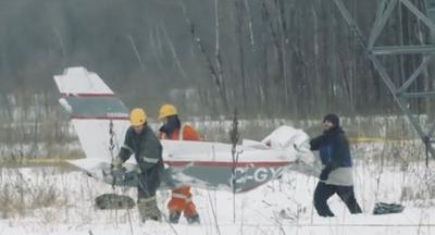 Two men died in a plane crash Monday evening in Les Cèdres