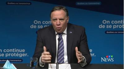 Montreal, Laval curfew back to 8 p.m. as of Sunday: Legault