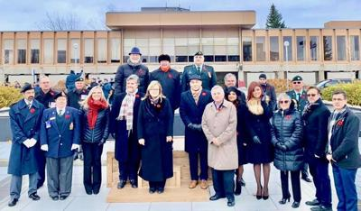 Remembrance Day ceremony in Laval