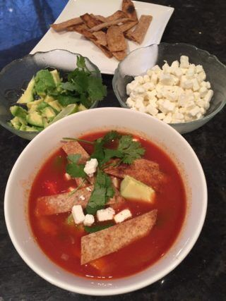 Recipe: Vegetarian tortilla soup