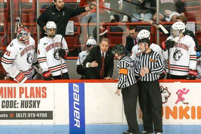 Northeastern's Jim Madigan ranks among University hockey's best behind the bench