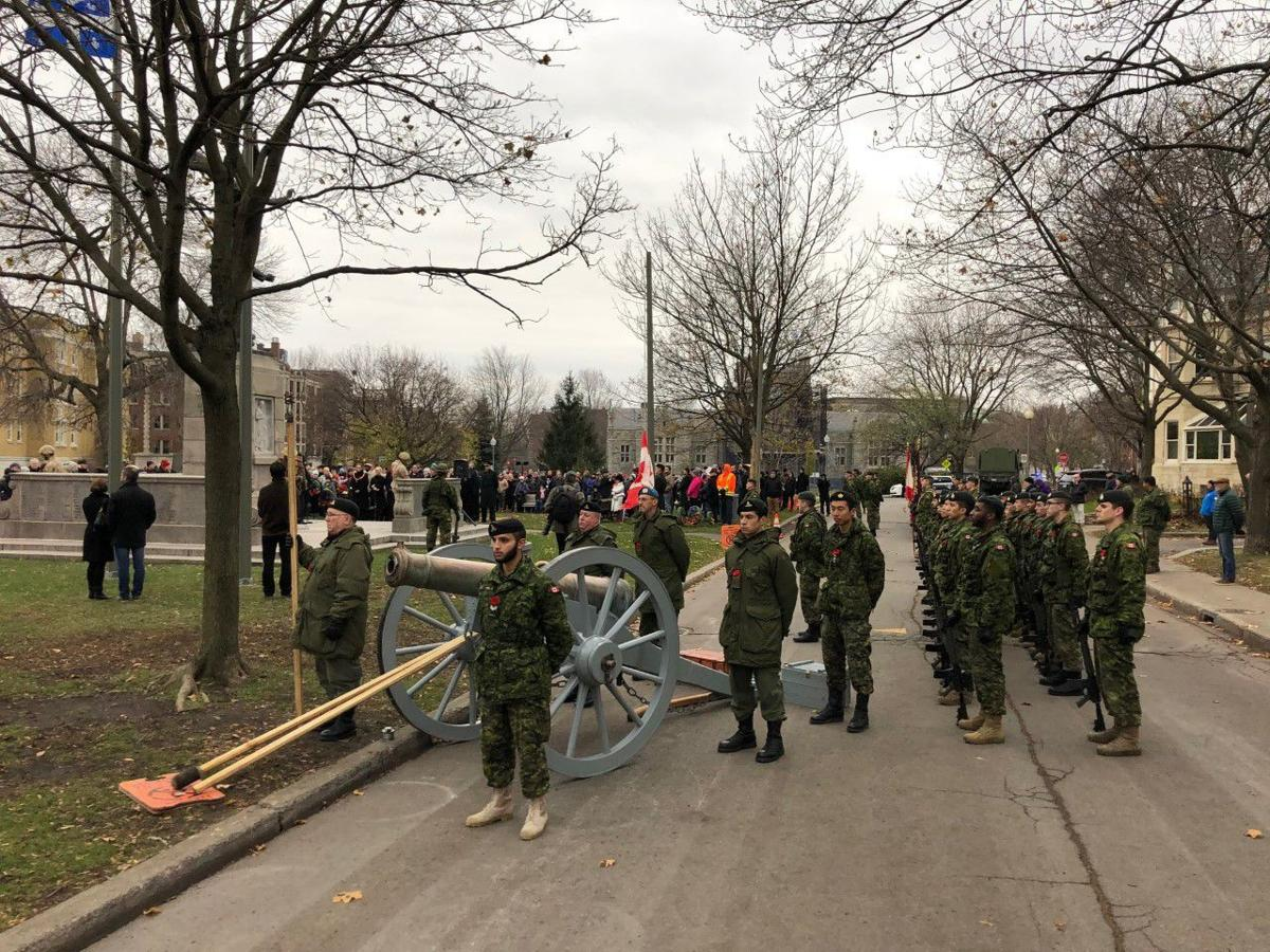 City's restored cannon displayed during last Sunday's Remembrance Day ceremony