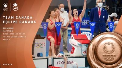 Canada wins women's medley relay bronze at Tokyo 2020