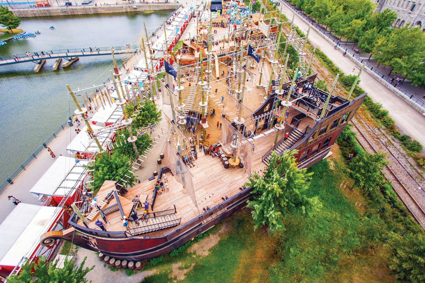 Aerial adventures are a big hit in the Old Port
