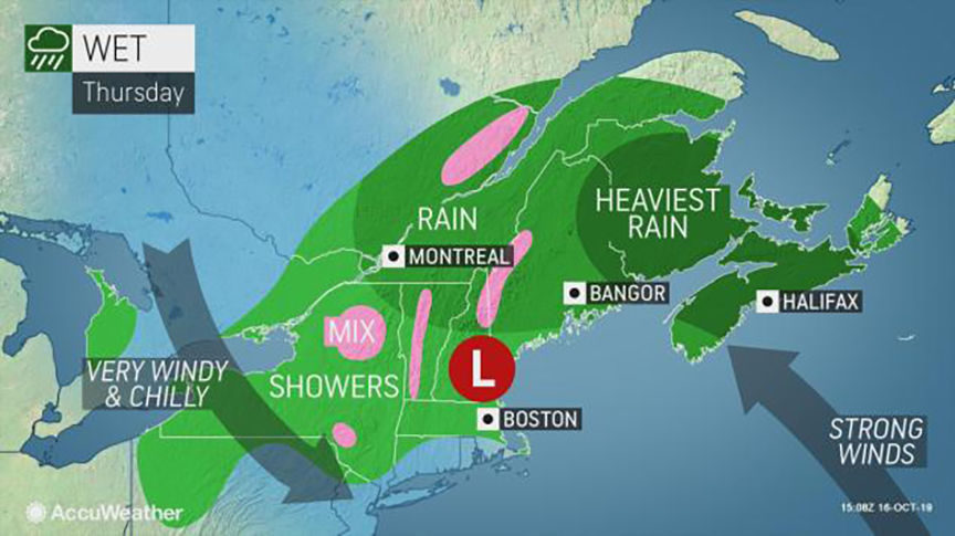 Increasing winds Thursday from strong fall storm