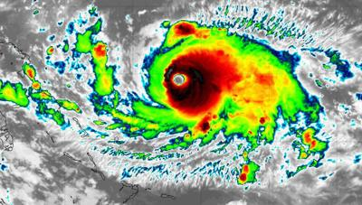 Powerful hurricane Dorian threatens Bahamas and Florida
