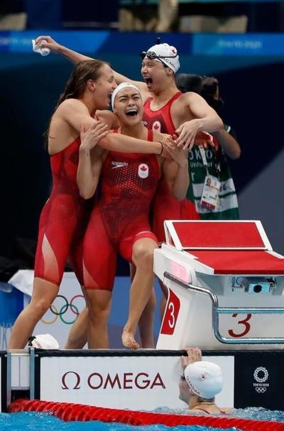 Women's 4 x 100 relay team earns Canada's first medal of Tokyo Games