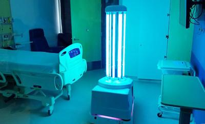 First evaluation of a UV-Disinfection robot in Canada underway