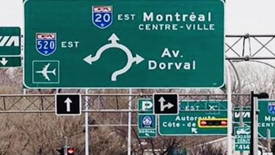 Highway 20 overpass at Dorval Circle opens and lanes at roundabout  to open Monday