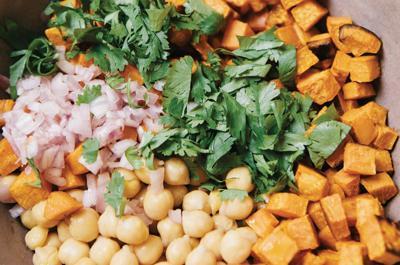 Recipe: Lemon-Tahini Sweet Potatoes and Chickpeas