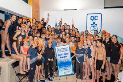 Dorval athletes in the swim at team championships