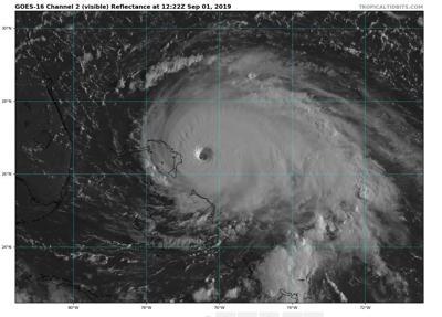 Category 5 Dorian battering northern Bahamas