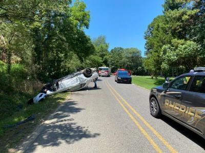 Rollover ends chase