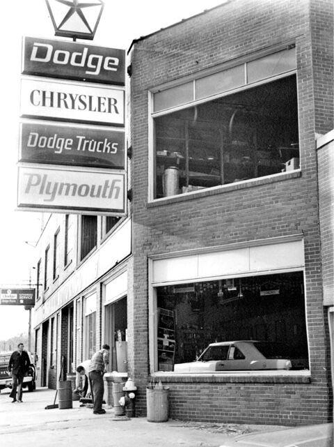 Dodge dealership windows were broken by sonic booms.
