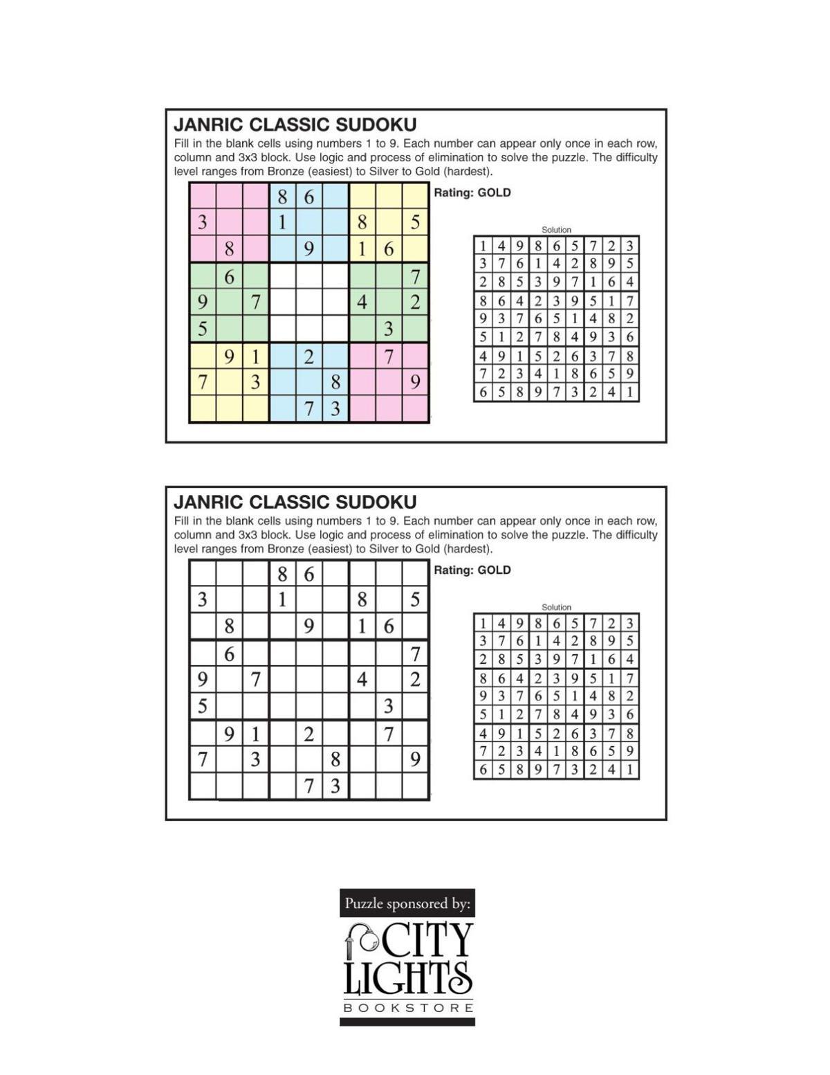 Sudoku - August 11, 2016