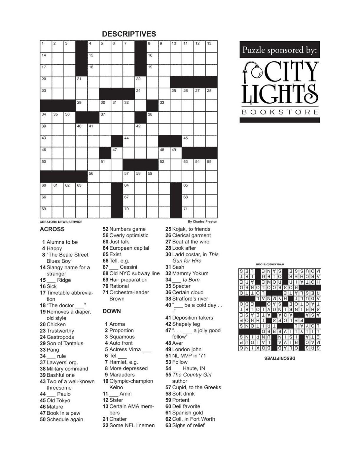 Crossword - Dec. 3, 2015