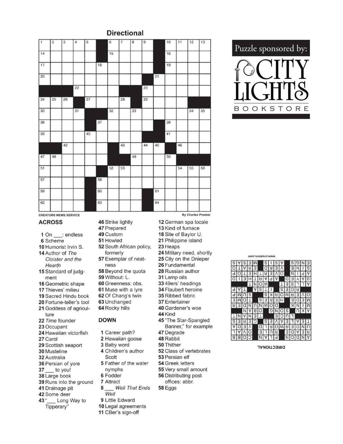 Crossword - Oct. 22, 2015
