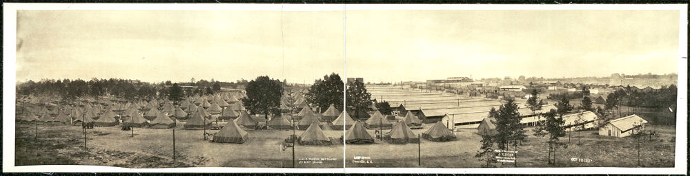 Tents and barracks of the 1-2-3 Training Battalions