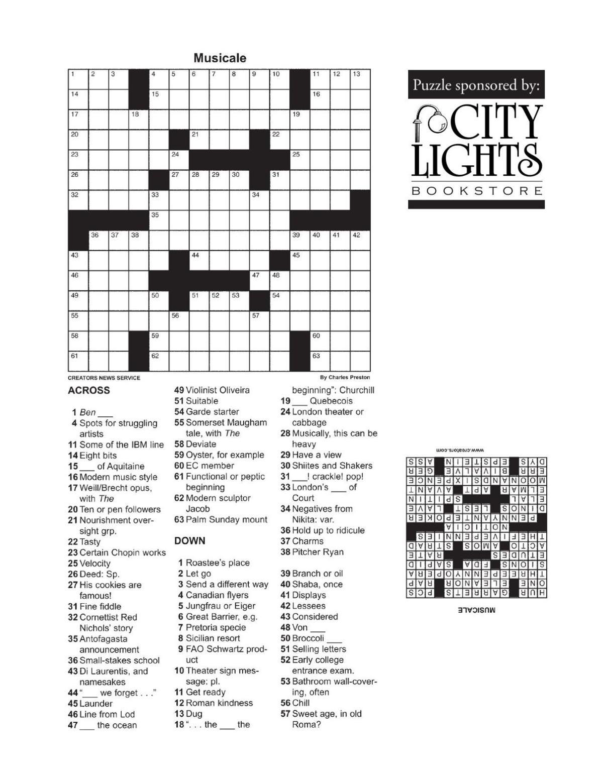 Crossword - Feb. 18, 2016