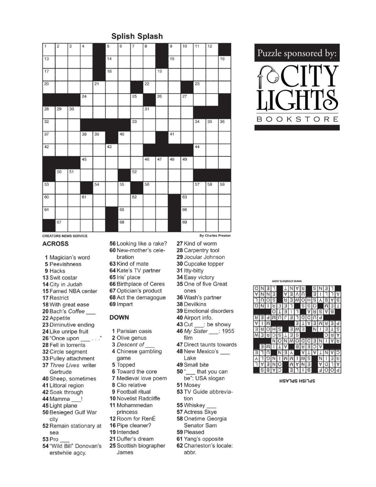Crossword - Feb. 4, 2016