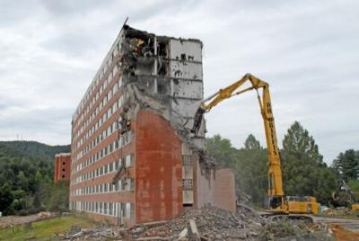 Walker being torn down on the WCU campus