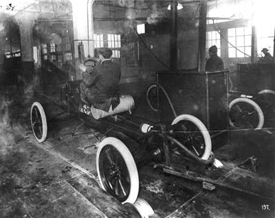 Assembly line at Ford's Highland Park