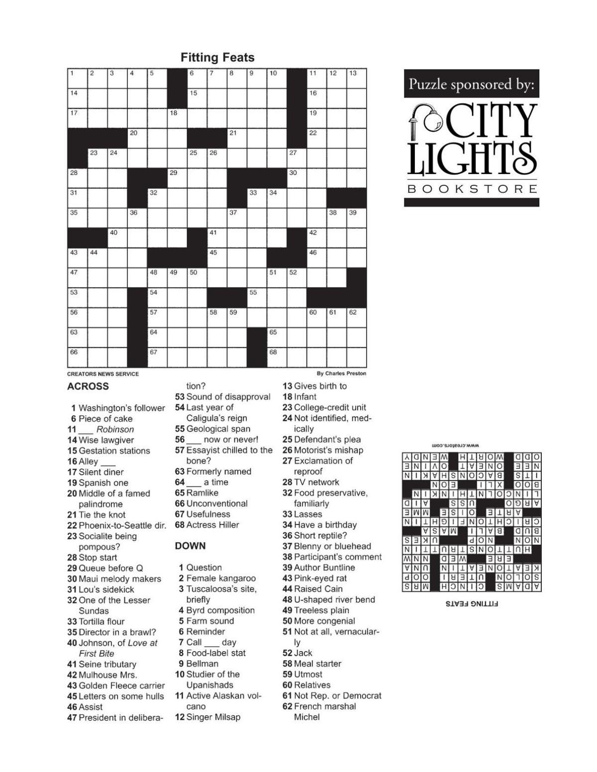 Crossword - Dec. 17, 2015