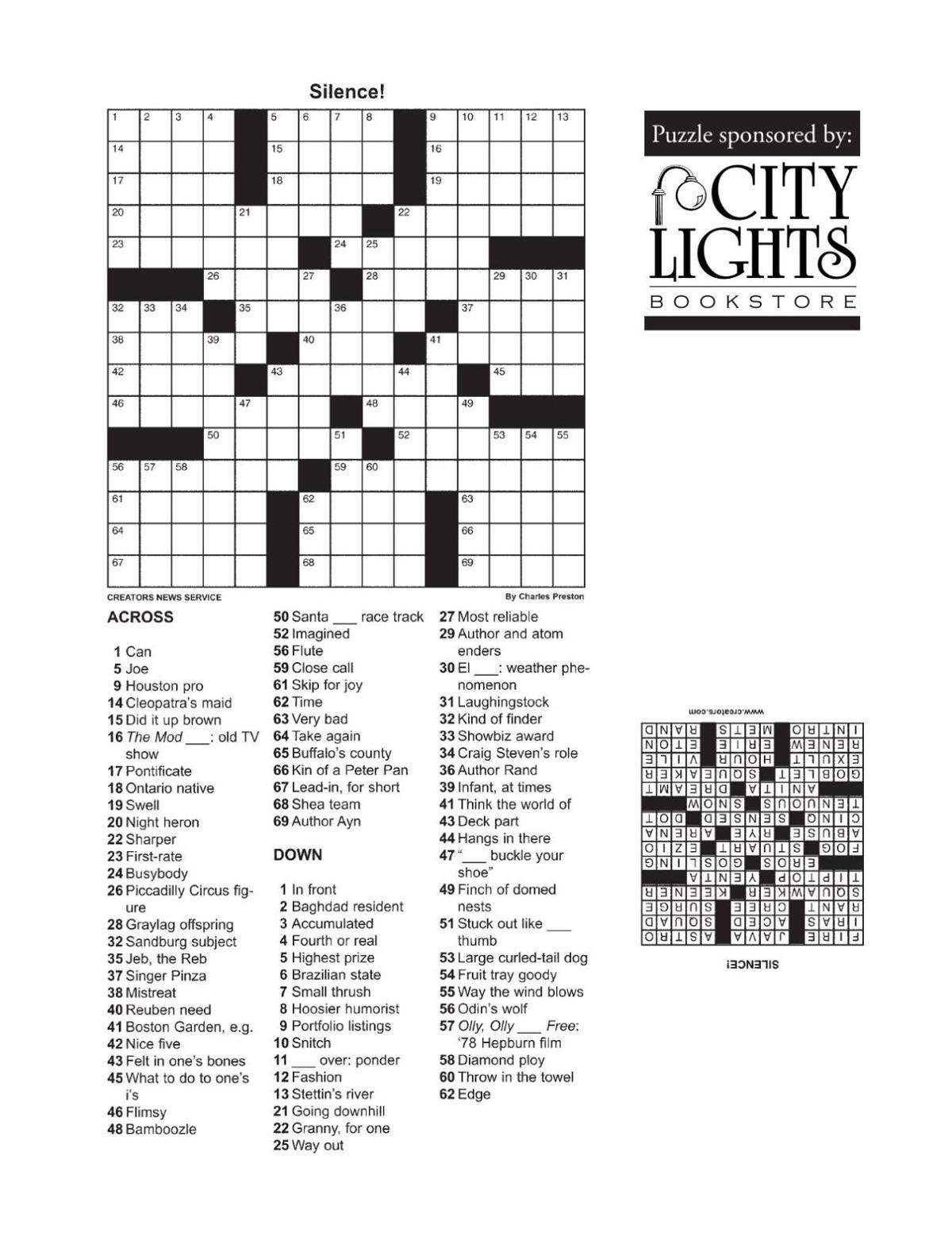 Crossword - Sept. 10, 2015