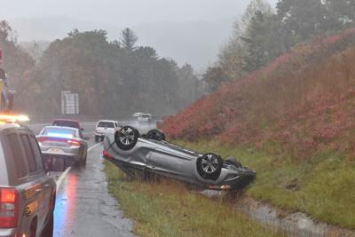 Rainy Day car Wreck